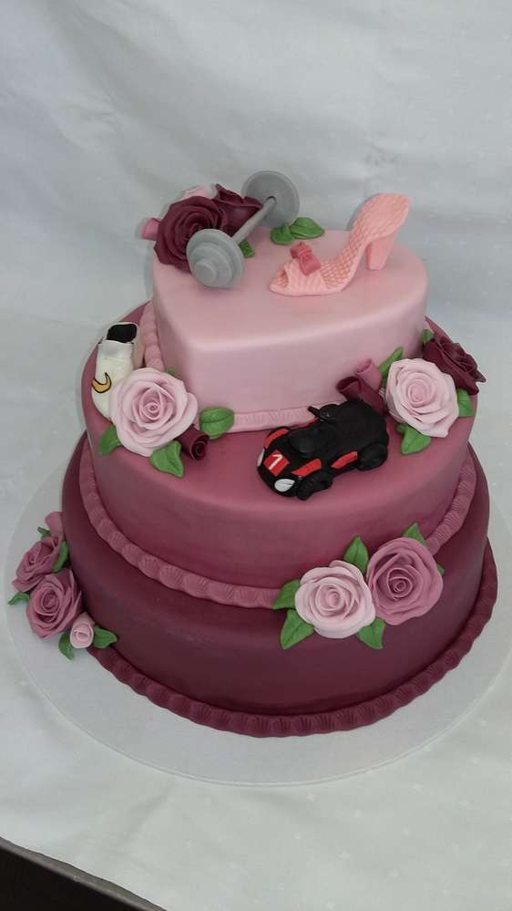 Hochzeitstorte Altrosa